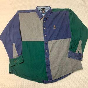 Vintage Chaps Ralph Lauren Color Block Button Up